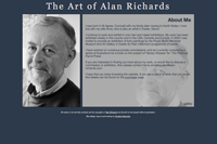 'About' page on Alan Richard's website